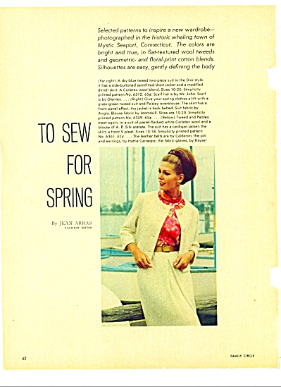 1966 =  To Sew for Spring lby Jean Arras (Image1)
