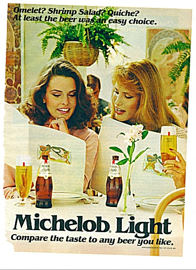 1982 -  Michelob light beer ad (Image1)