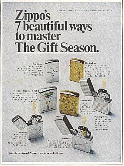 1968 Zippo Lighter AD 7 Models (Image1)