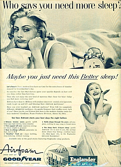 1957 ENGLANDER Goodyear Airforam Mattress AD (Image1)