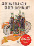 1947 COCA COLA Coke 5 cent Green Bottle AD