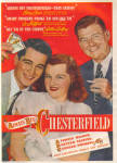 1947 Chesterfield Cigarettes PERRY COMO + AD