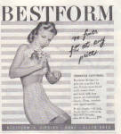 Click here to enlarge image and see more about item 010705U: 1947 Bestform PIN UP Art Bra Girdle AD  Z7309