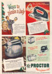 1947 Proctor Pop-Up Toaster Appliance AD