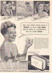 1944 SONJA HENIE Lux Soap Bathing AD