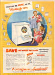 1949 Westinghouse LAUNDROMAT Wash Dryer AD