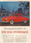 1949 1950 Studebaker CLASSY RED CITY CAR AD