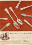 Click here to enlarge image and see more about item 011805M: 1949 TOWLE AD Silver French Provincial ++