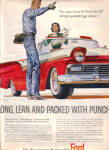 Click here to enlarge image and see more about item 012005E: 1957 FORD Fairlane COWBOY Long Lean Car AD