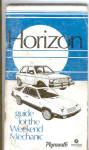 ORIGINAL Plymouth Horizon Owners Manual