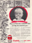 1947 Campbell's BABY Animals SOUP Strained AD