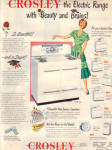 1949 CROSLEY Electric Range stove BEAUTY AD