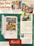 Click here to enlarge image and see more about item 012705Y: 1949 Servel Gas Refrigerator STAYS SILENT AD