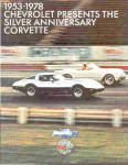 Click here to enlarge image and see more about item 012903E: 1978 Anniv. CORVETTE Brochure/POSTER NOS MINT
