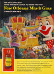 Click here to enlarge image and see more about item 012905F: 1962 BRER Rabbit Mardi Gras REX Float AD