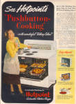 1949 Hotpoint PUSHBUTTON Cooking Stove AD