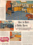 1949 Sloane Linoleum Hobby Haven Tile Ad