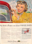 1949 Body by Fisher WOMAN Corner Post AD