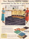 Click here to enlarge image and see more about item 012905X: 1949 Kentile ASBESTOS  Colorful Floor Tile AD