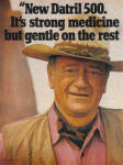 Click here to enlarge image and see more about item 013005E: 1977 JOHN WAYNE 2pg Datril 500 Ad
