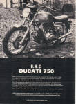 1973 DUCATI 750 Motorcycle Cycle AD