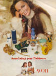 1971 Avon Lady Christmas Products AD