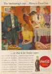1945 Coca Cola COKE AD GUSTAVSON Party AD