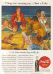 1945 COCA COLA Coke Party on the Beach AD