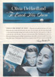 1946 OLIVIA DeHAVILLAND Each His Own Movie AD