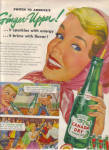 Click here to enlarge image and see more about item 030304AG: 1954 Canada Dry GINGER UPPER Soda AD