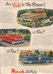 Click here to enlarge image and see more about item 030304NA: 1950 NASH Airflyte Rambler 3 Model Car AD