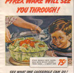 Click to view larger image of 1943 Pyrex Ware Wartime Oven Ware Meals Ad (Image2)