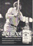 1974 BABE RUTH - JIM BEAM Whiskey Original Ad