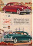 Click here to enlarge image and see more about item 042604XRback: 1947 Kaiser - Frazer Car AD ORIGINAL Postwar