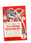 Click here to enlarge image and see more about item 100102A: 1951 PERFECT CIRCLE Chrome Piston Ring Set Ad