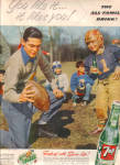 1953 7UP Seven UP FOOTBALL Family AD