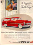1952 DODGE CORONET Sierra RED Car AD SHOW DWN