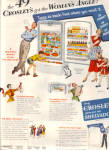 Click here to enlarge image and see more about item 101204R3a: 1949 Crosley Shelvador Appliances Family Ad