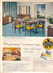 Click here to enlarge image and see more about item 101204X: 1957 Heywood Wakefield MODERN Furniture Ad