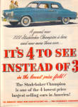 Click here to enlarge image and see more about item 101404a: 1951 Studebaker Champion Grand New Car AD