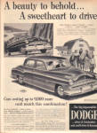 Click here to enlarge image and see more about item 102404AE: 1951 DODGE Sweetheart Horse Farm Car AD