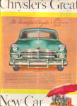 1949 Chrysler SILVER Anniversary Model Car AD