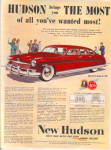 1949 HUDSON New Car AD SLEEK Sedan