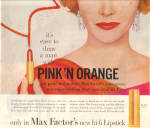 Click to view larger image of 1958 Max Factor PINK'N ORANGE Draw a Man Lips (Image2)