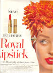 Click here to enlarge image and see more about item 112104FE: 1958 DuBARRY LIPSTICK Dolores Hawkins AD
