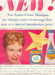 Click here to enlarge image and see more about item 112104FF: 1958 DEBBIE REYNOLDS Lustre Creme Actress AD