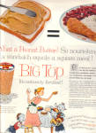 Click here to enlarge image and see more about item 112104FH: 1957 BIG TOP Peanut Butter Glass AD Goblet