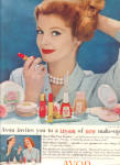 1958 AVON Cosmetics FASHION Make Up AD