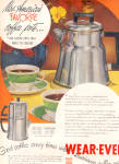 Click here to enlarge image and see more about item 120704WD: 1949 Vintage Wear Ever Aluminum Coffee Pot Ad
