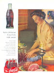 1952 COCA COLA Coke Bottle Lady Table AD
